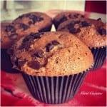 muffins chocolat au lait et pépites de chocolat